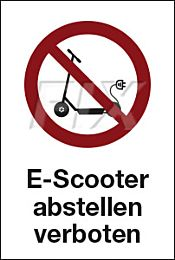 E-Scooter abstellen verboten