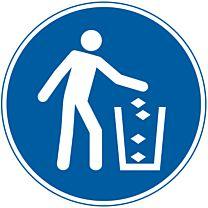 Abfallbehälter benutzen