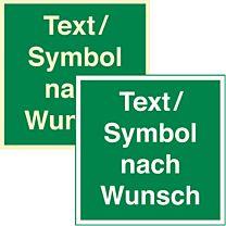 Rettungszeichen mit Wunschtext