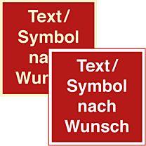 Brandschutzzeichen mit Wunschtext