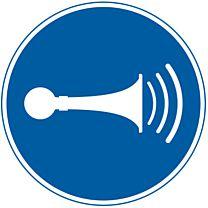 akustisches Signal geben