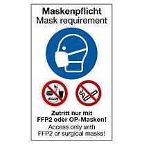 Maskenplicht medizin. Maske, deutsch-englisch