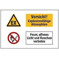 Vorsicht! Explosionsfähige Atmosphäre. Feuer, offenes Licht und Rauchen verboten.
