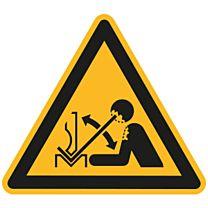 Warnung vor hochschnellendem Werkstück in einer Presse