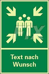 Sammelstelle mit Text nach Wunsch - LN