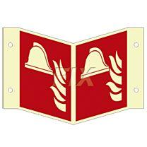 Winkelschild - Brandbekämfpung - LN
