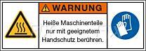 Heiße Maschinenteile - Handschutz