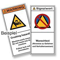 Maschinen-Sicherheits-Schilder nach Wunsch