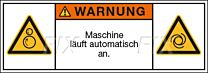Maschine läuft automatisch an.