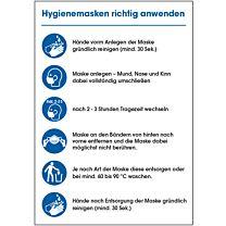 Hygienemasken richtig anwenden