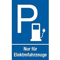 Parkplatz: Nur für Elektrofahrzeuge