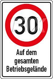 30 km/h - Betriebsgelände