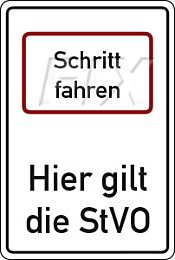 Schritt fahren - StVO