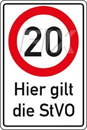 20 km/h - StVO