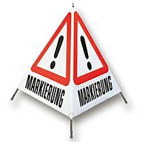 Warnfaltsignal Markierung