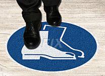 Bodenmarkierer - Fußschutz benutzen