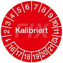 Prüfplakette - Kalibriert