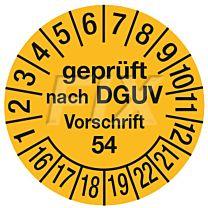 Prüfplakette - geprüft nach BGV D8