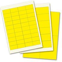 Blanko-Etiketten - Polyester, gelb matt