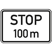 Stop in 100 m